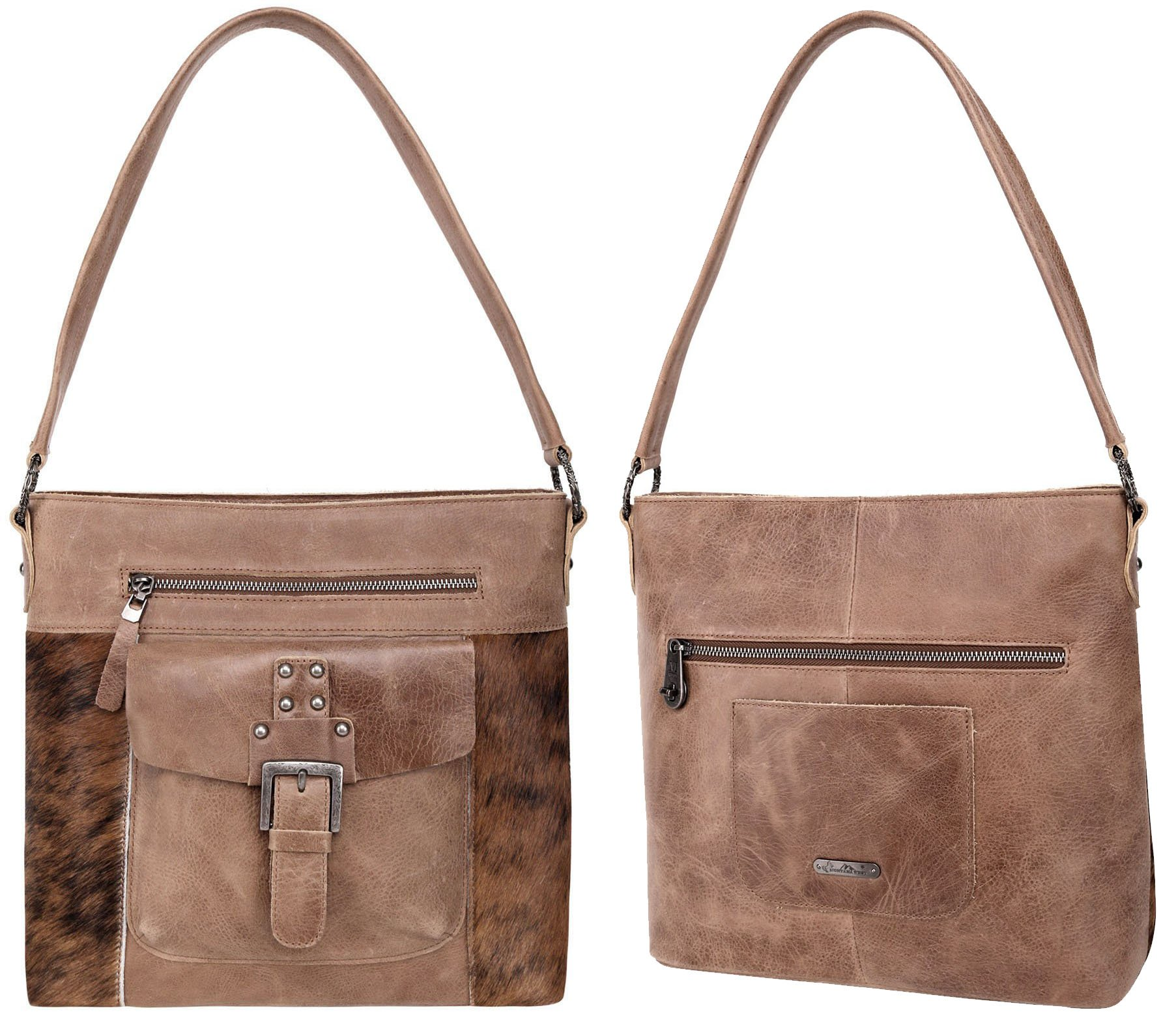Made from luxurious genuine hair-on cowhide leather, the Montana West hobo features multiple pockets and an easily accessible main compartment