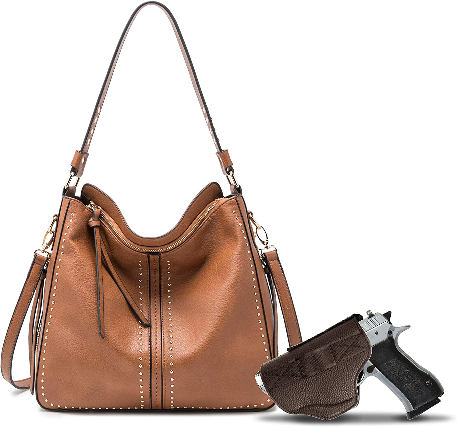 Affordable, durable and spacious, Montana West's large concealed carry hobo has everything you need to keep your firearm and valuables safe