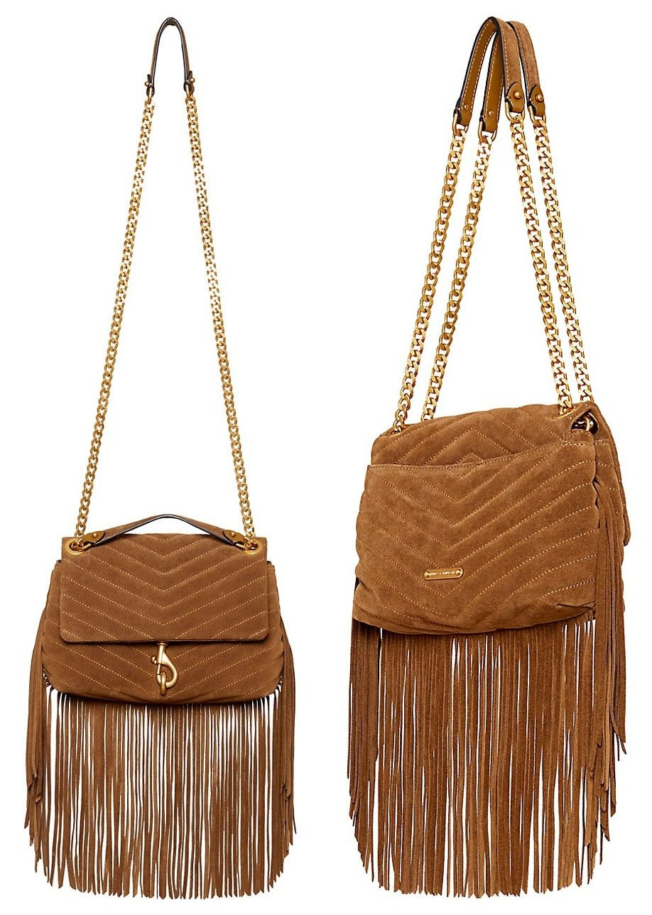The Edie bag has been given a spring update with fringes that give off '70s vibe