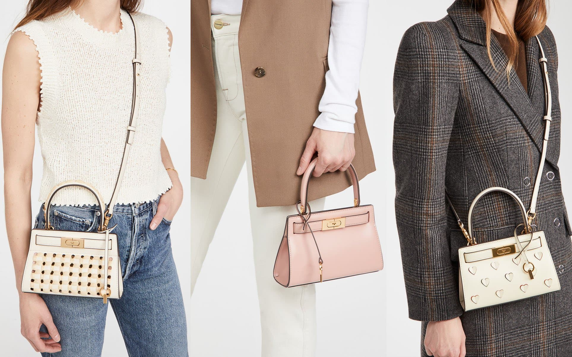 Lee Radziwill is an impeccably crafted leather bag that has the label's signature lock-and-key hardware