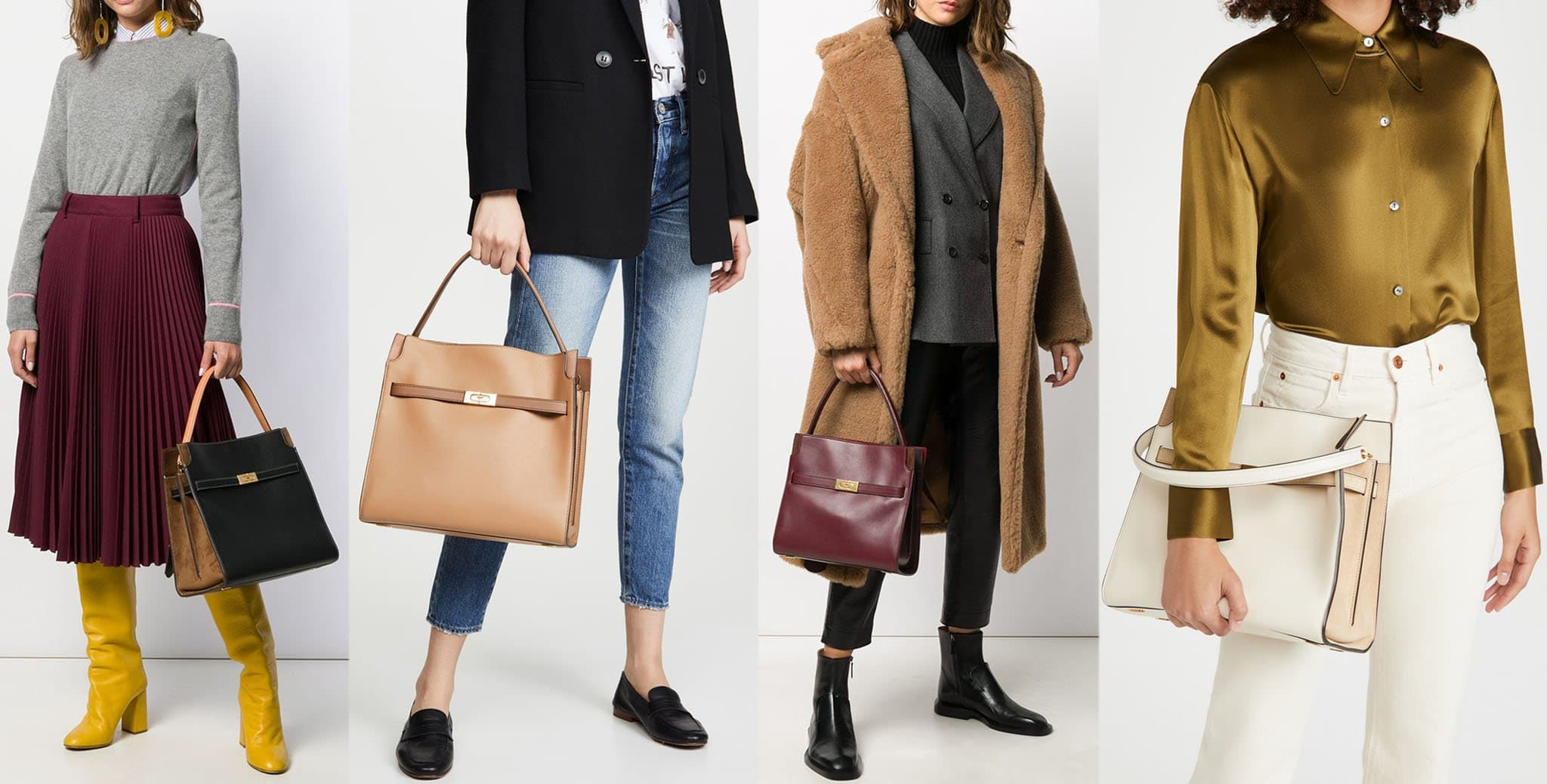 A practical yet classy bag that has plenty of room and a wraparound buckle that can be undone for a slouchy look