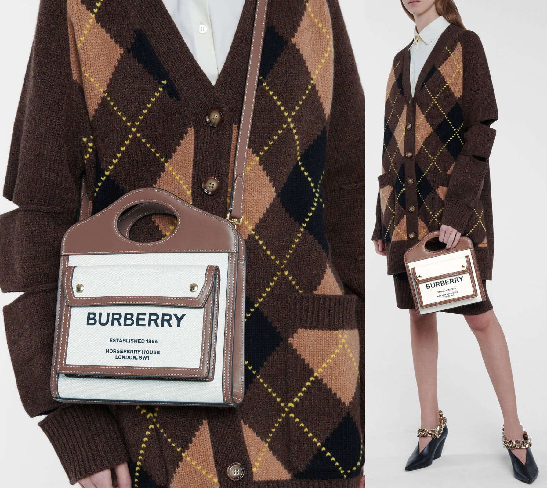 A sleek, archival-inspired design refreshed with Burberry's bold Horseferry logo on the front pocket