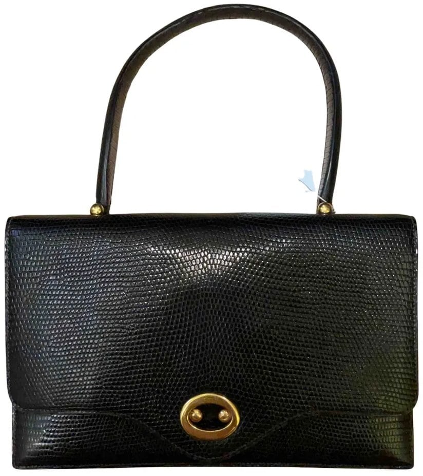 Hermès lizard buttonhole bag from the 1960s and 1970s