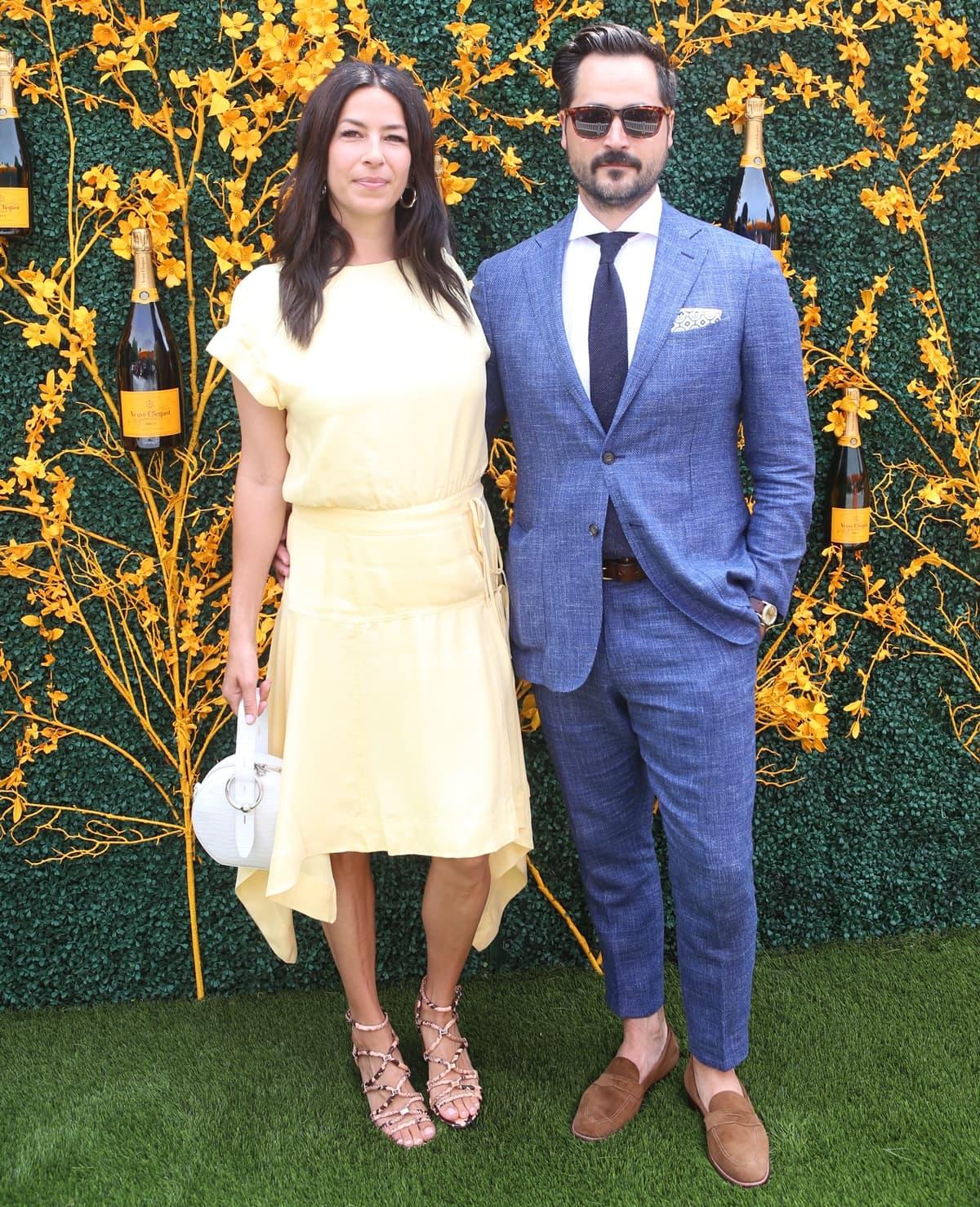 Rebecca Minkoff and her husband Gavin Bell attend the 12th Annual Veuve Clicquot Polo Classic