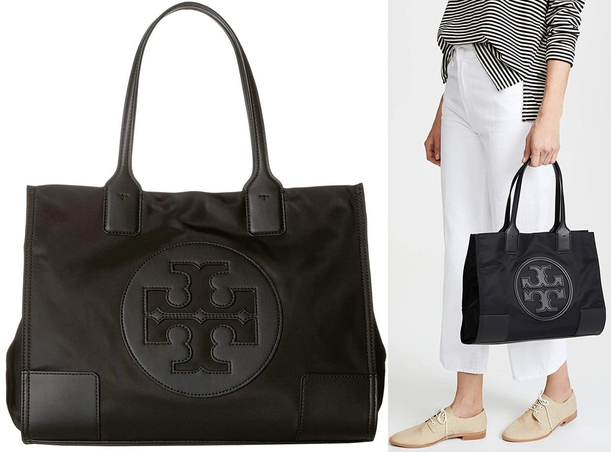 Tory Burch's Ella Mini tote with dual shoulder straps is one of her most affordable bags