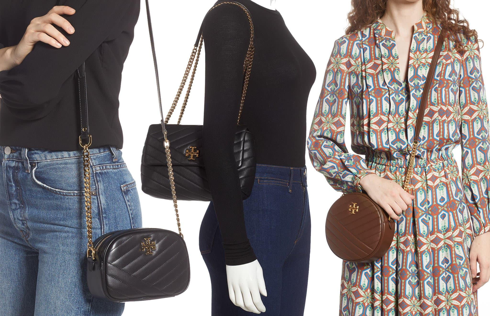 Tory Burch's Kira has a classic minimalist design and is identified by the understated Double T logo hardware