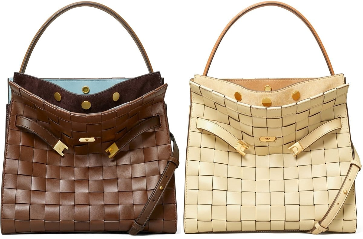 Tory Burch's woven Lee Radziwill structured bag is one of her most expensive bags