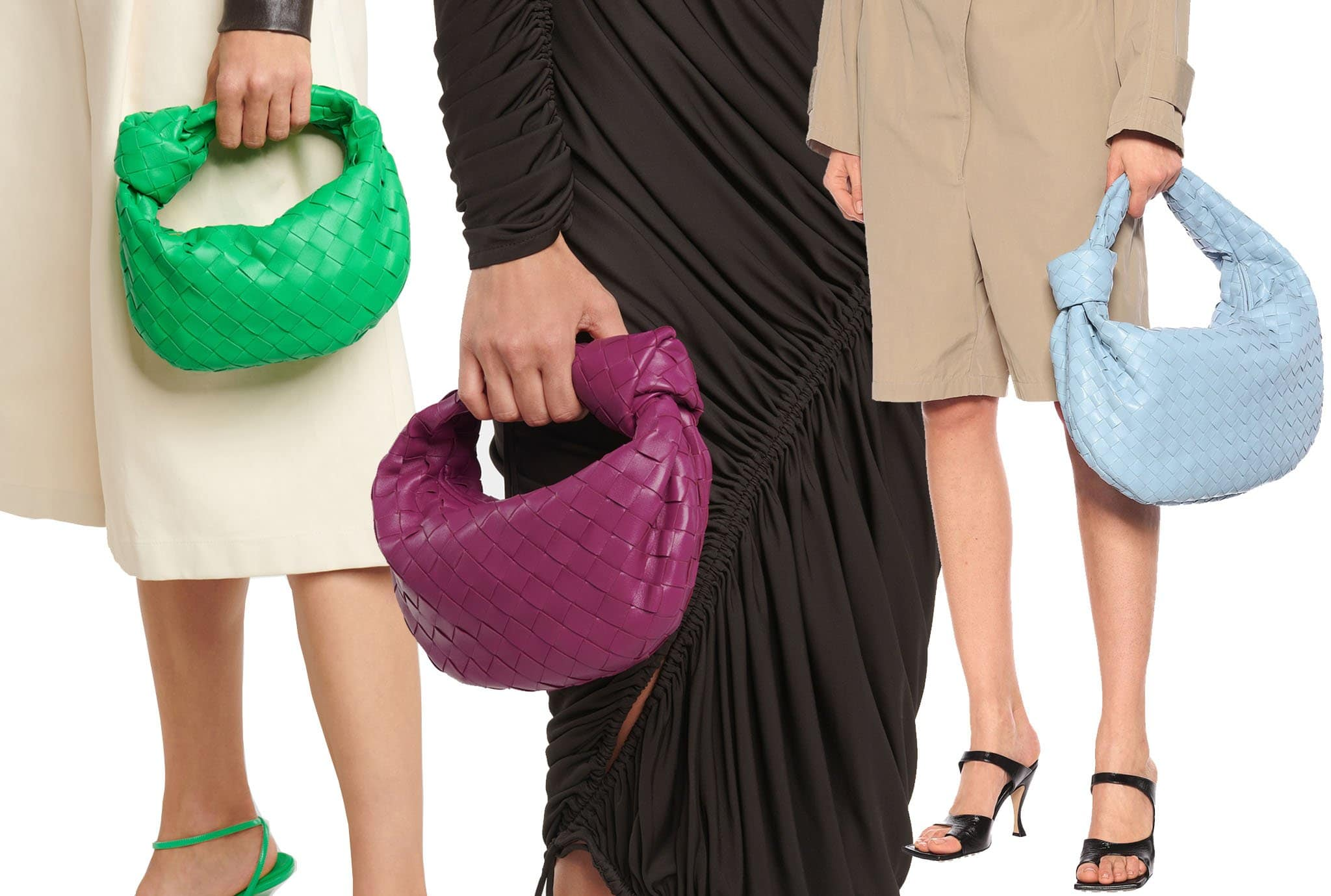 Aside from the classic neutrals, Bottega Veneta's Jodie bag also comes in a mixture of seasonal hues