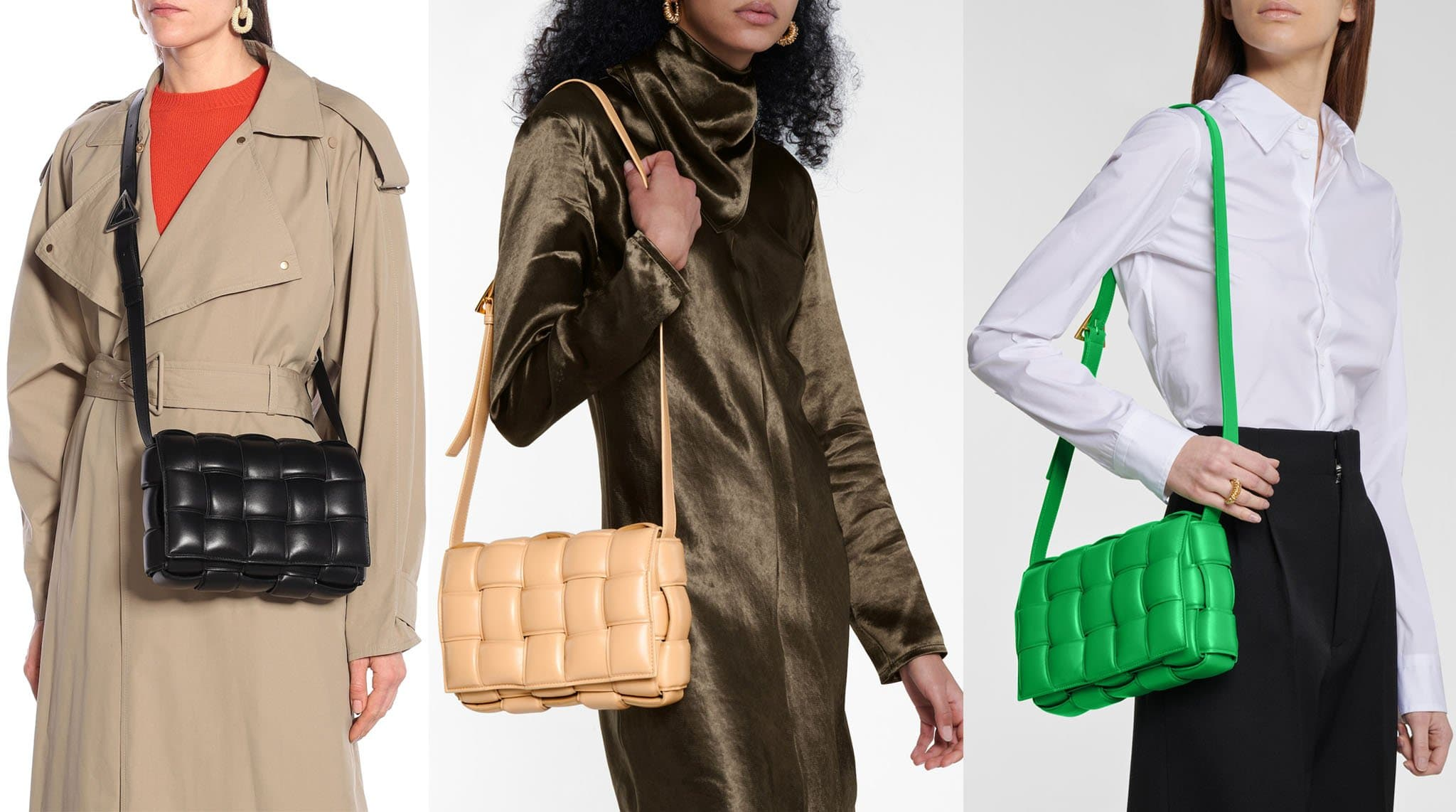 The now-iconic Cassette bag is famous for the padded interpretation of the house's intrecciato finish