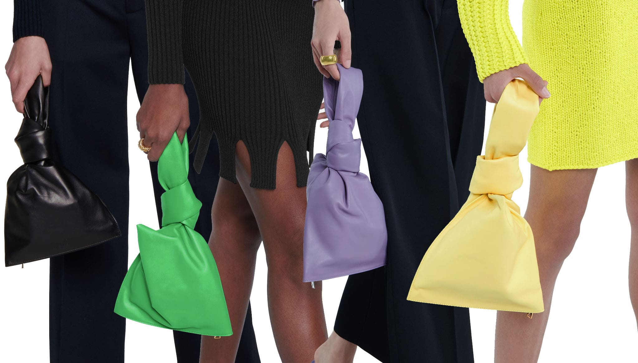 The Twist Mini is a slouchy tote bag that fits snugly in the palm