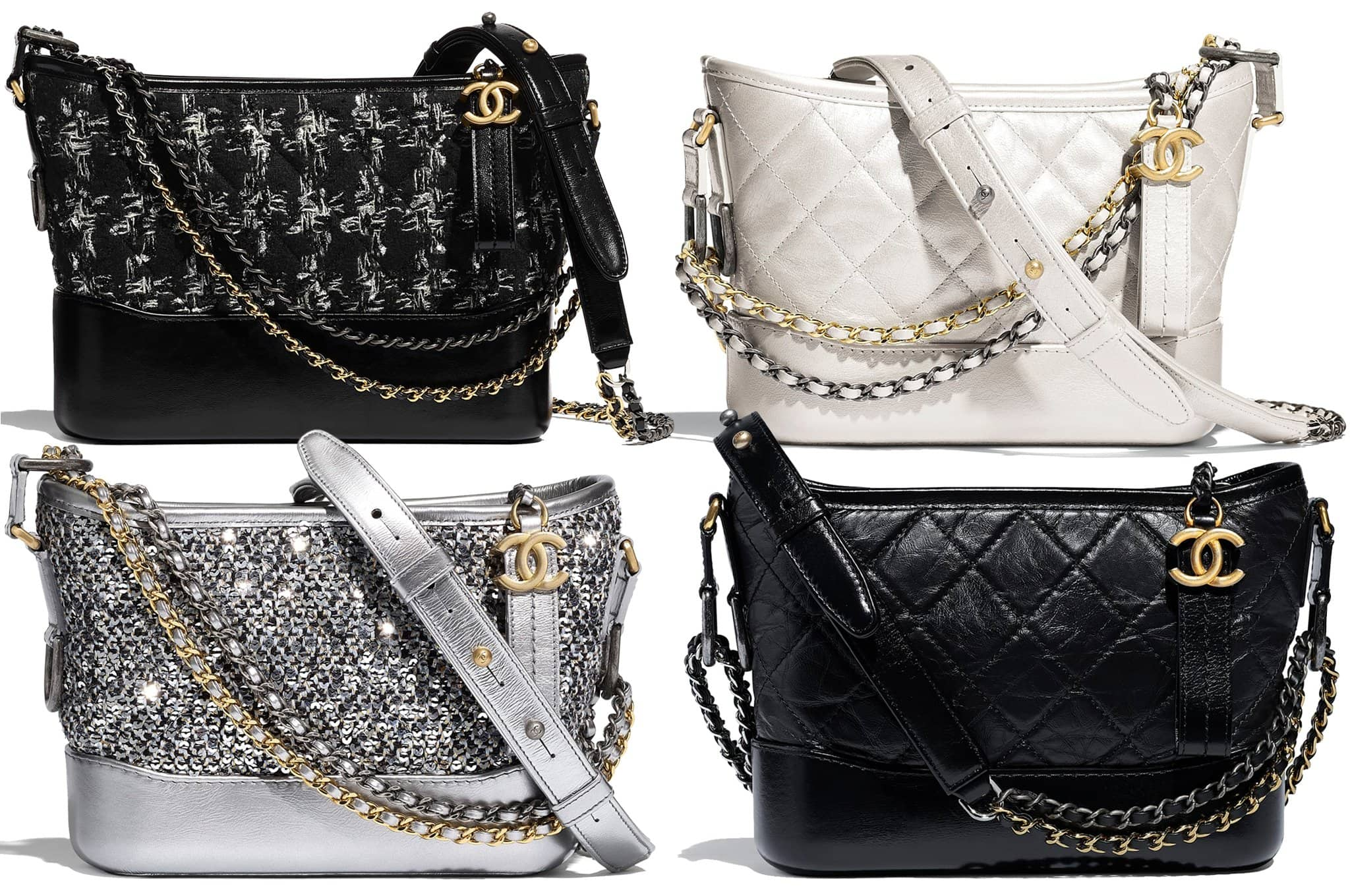 modern take on the classic hobo, you can find Chanel's Gabrielle bag in different materials, featuring the house's signature interlocking C hardware