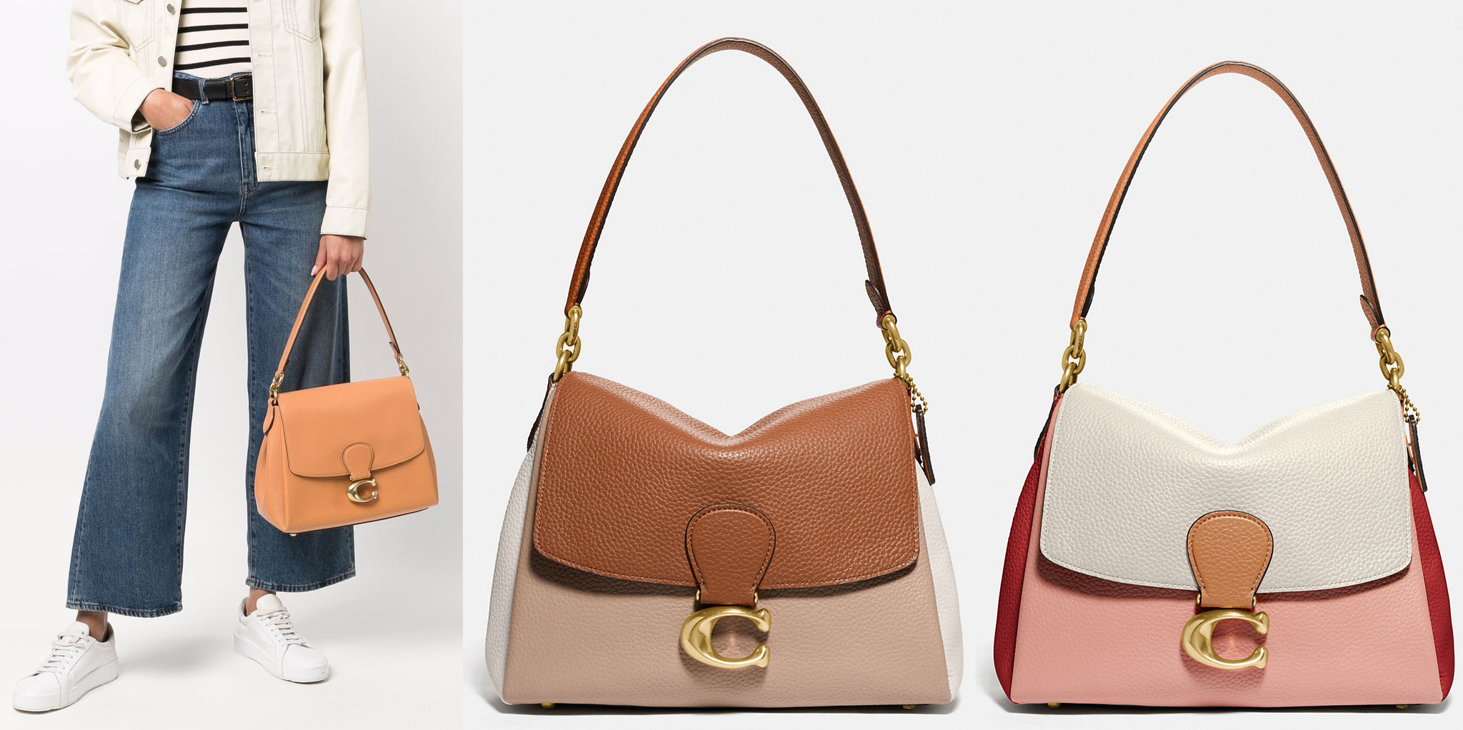 Featuring a minimalist timeless design, the Coach May bag has the classic C logo hardware on the front flap