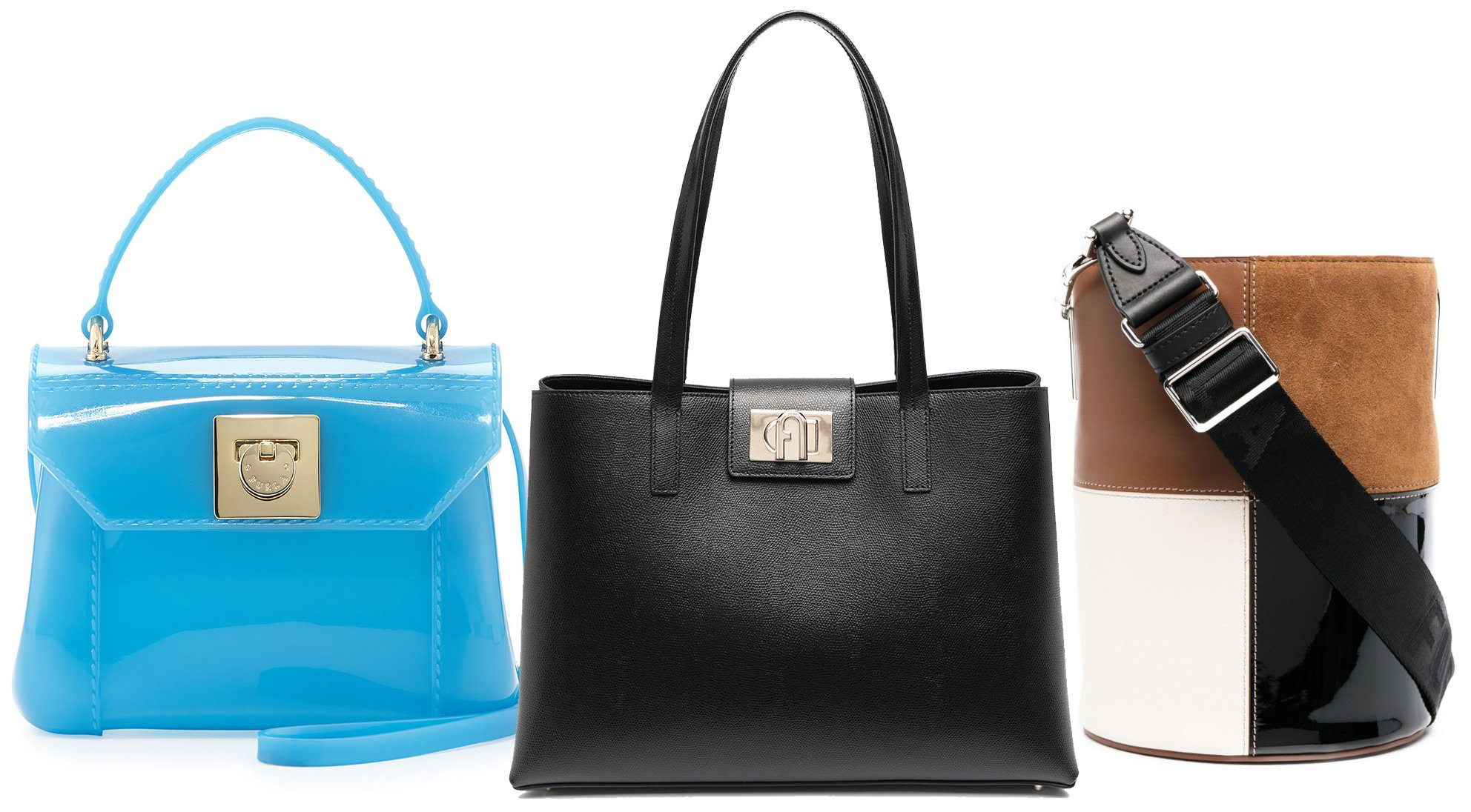 Aside from its PVC bags, Furla also has an array of bags made from genuine leather