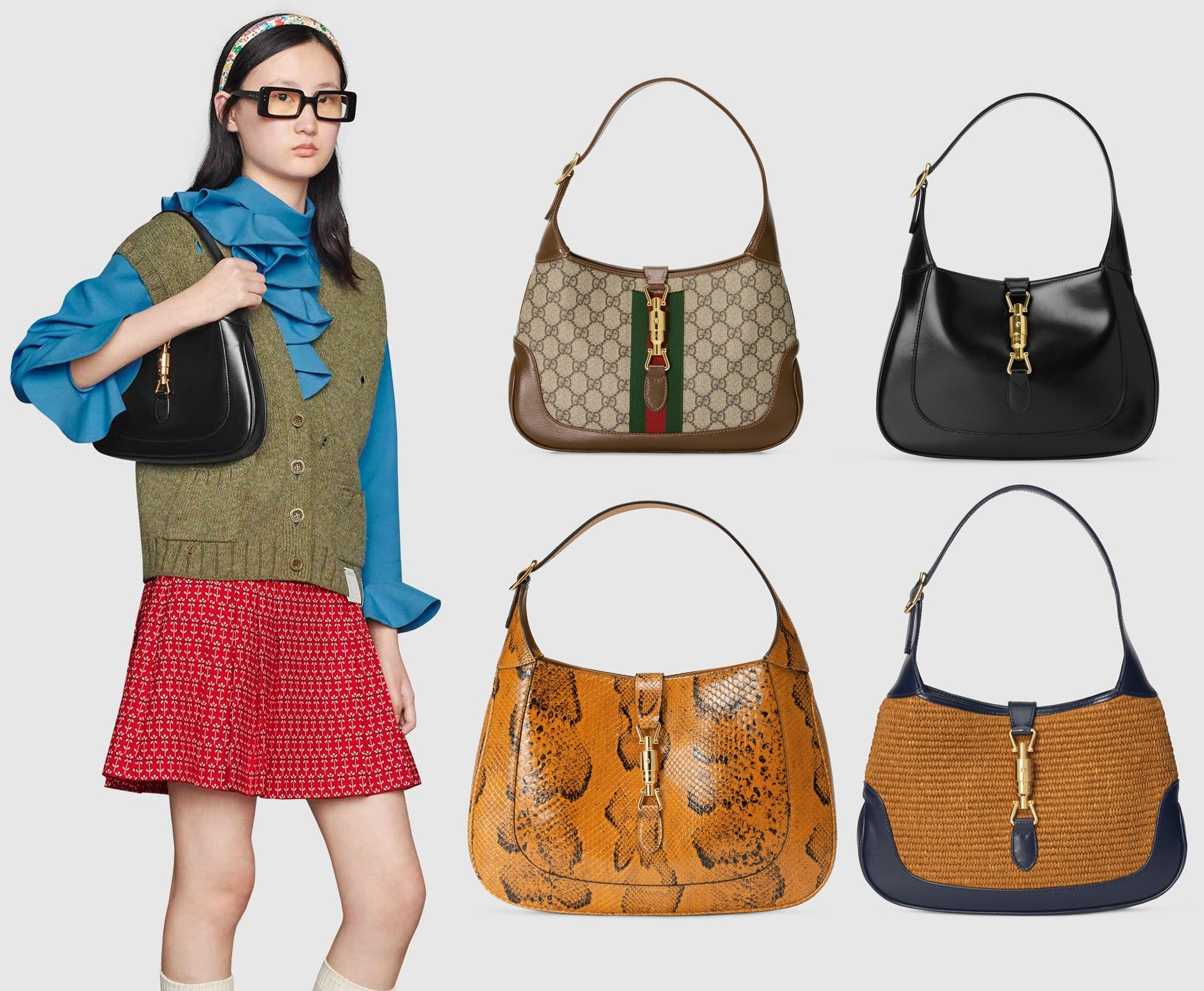 Named after Jackie Kennedy Onassis, Gucci's Jackie hobo bag is an archival style that has been given a contemporary feel