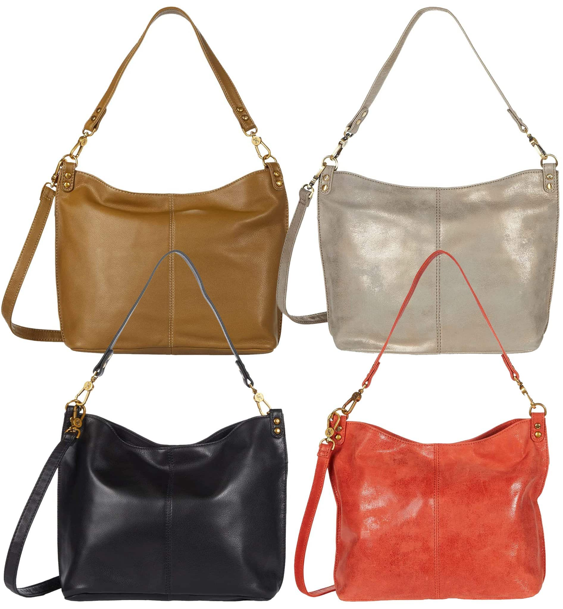 The Hobo Pier is a versatile bag that converts from a shoulder bag to a crossbody bag, thanks to the carrying handle and detachable, adjustable crossbody strap