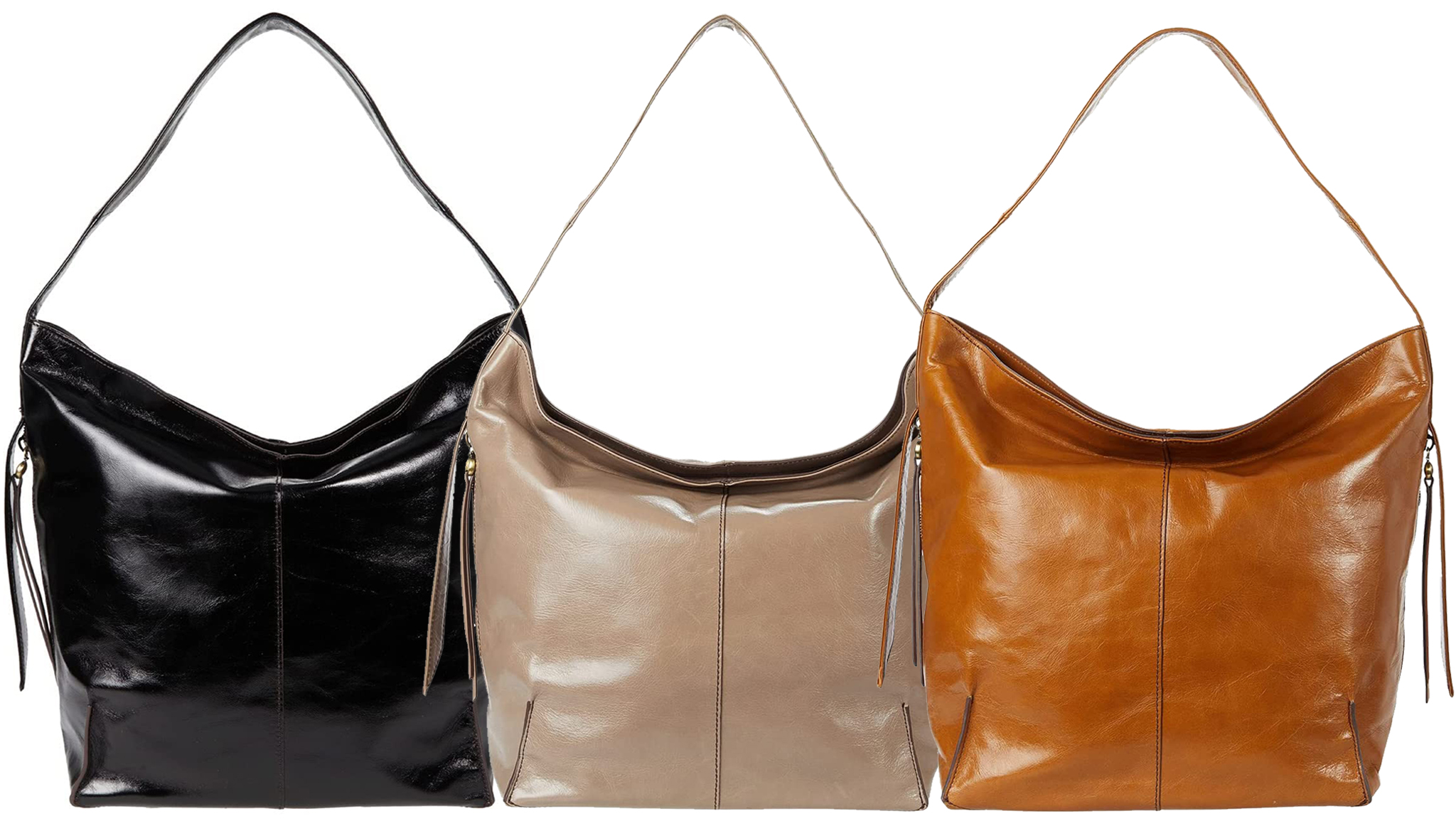 Made from the brand's signature vintage hide leather, the Stand hobo bag features a carrying handle and fringe detail at the sides