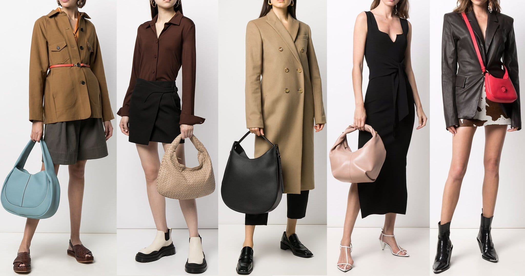 A hobo bag comes in different sizes but it is easily identified by its crescent silhouette and slouchy look