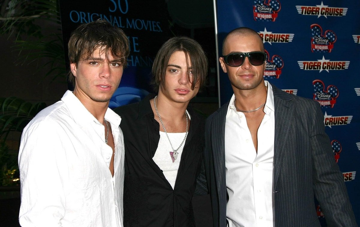 """Brothers Matthew Lawrence, Andrew James Lawrence, and Joey Lawrence at the premiere of the Disney Channel Original Movies Los Angeles premiere of """"Tiger Cruise"""""""