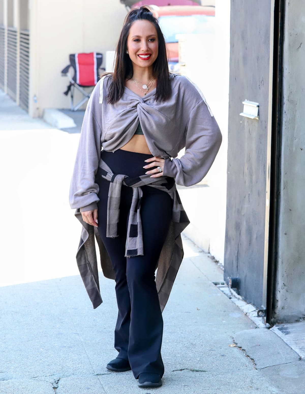 Cheryl Burke arrives for Dancing With the Stars (DWTS) rehearsals