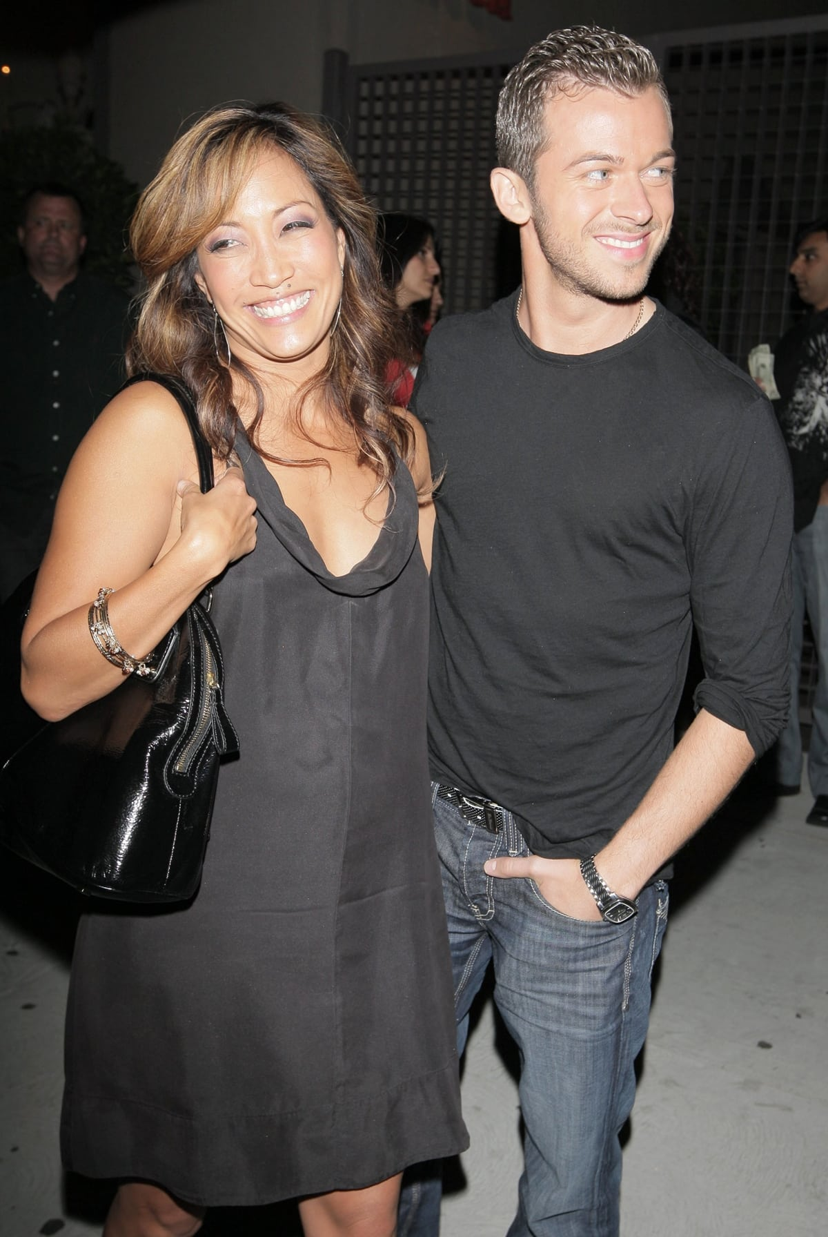 Cheryl Burke and Mathew Lawrence on a dinner date at STK restaurant