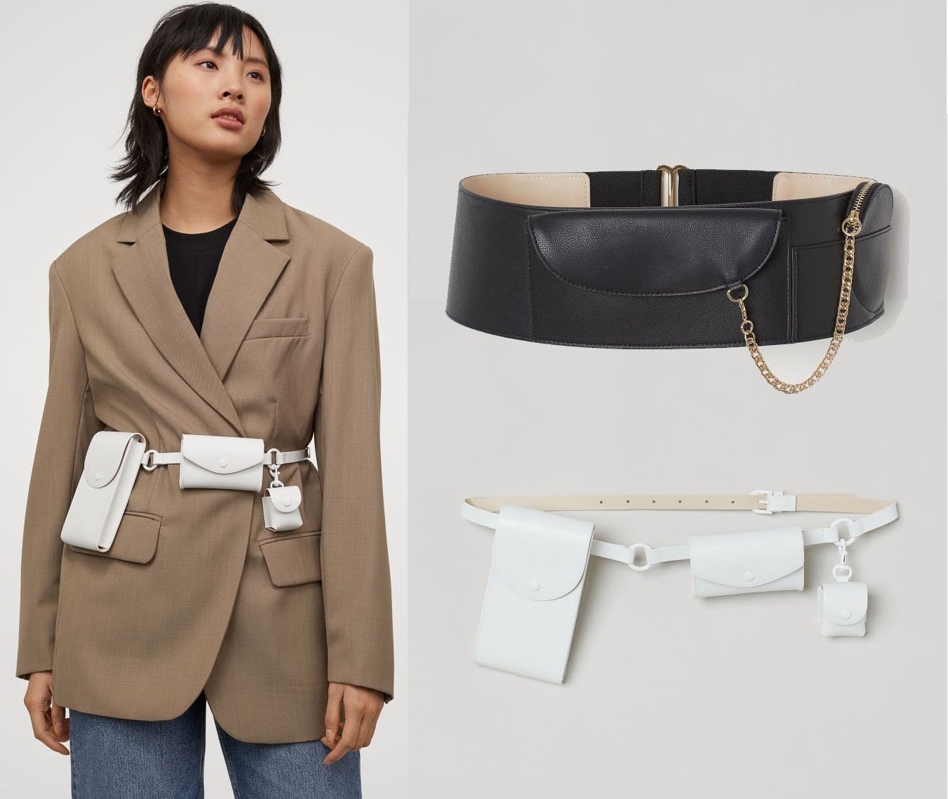An interesting take on classic belt bags, H&M's Waist Belt Bag is a simple belt with multiple pockets for your essentails