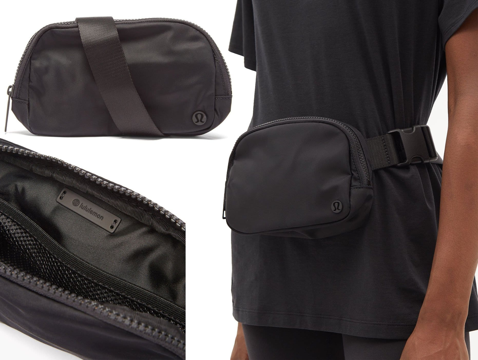 Lululemon's Everywhere belt bag is a practical complement to workout and off-duty outfits